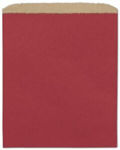 1000 Brick Red Paper Merchandise Bags 8 1 2 X 11