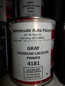 High Build Premium Acrylic Lacquer Primer Gray Quart Fast Dry Easy Sanding 1k