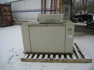 Onan 20kw Rs20000 Standby Genset Model 20ggdb 3334 Natural Gas 418 Hours Used