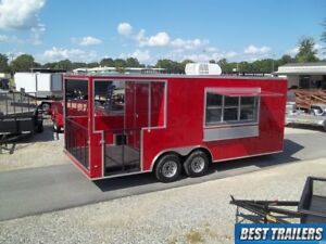 2019 8 X 20 New Bbq Porch Trailer Enclosed Concession Vending 8 5 X20 Ready