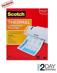 Thermal Hot Cold Laminator Machine Laminating Pouches Sheets 3 5 Mil 100 Pack