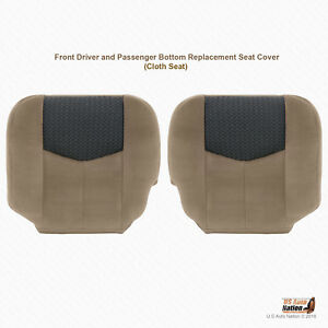 2003 2004 Chevy Avalanche Driver And Passenger Bottoms Cloth Seat Cover Tan 52d