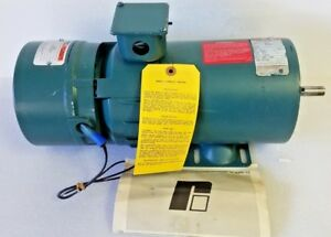 Reliance Electric Power Matched rpm 3 4 Hp Dc Motor W Duty Master Unibrake