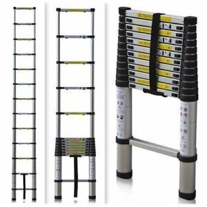 16 5ft Aluminium Telescopic Ladder Extension Foldable Multi purpose Steps En131