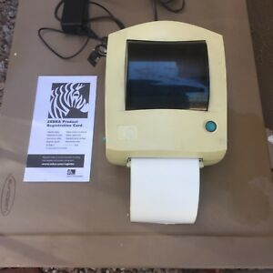 Zebra Tlp 2844 Label Thermal Printer Usb Cable And Power Supply