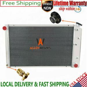 4 Row Aluminum Radiator For Chevy El Camino 78 87 impala 80 85 nova 75 79 V8