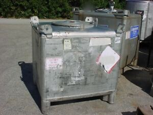 255 Gallon Stainless Steel Tote Tank Dot 57