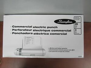 Swingline 74535 Commercial Electric 3 Hole Punch 28 Sheets 34f
