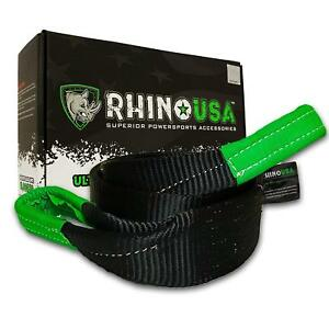 Rhino Usa Tree Saver Tow Strap 3 X 8 Lab Tested 31 518lb Break Strength Tr