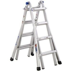 Werner Mt Aluminum 18 ft Reach Type 1a 300 Lbs Cap Telescoping Ladder used