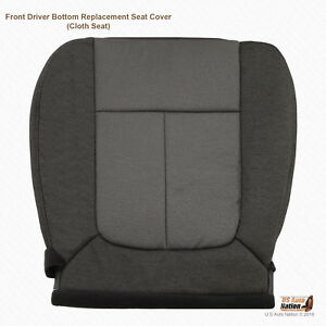 2009 2010 Ford F150 Stx Xl Front Driver Bottom Gray Cloth Replacement Seat Cover