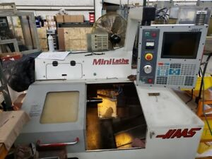 Used Haas Mini Lathe Cnc Turning Center 5c Collet Gang Tool Brushless 2001