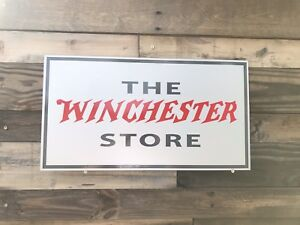 Antique Vintage Old Style Winchester Gun Store Sign