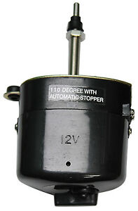 Black Wiper Motor With Built In Switch Threaded Shaft Fits Over Windshield Early