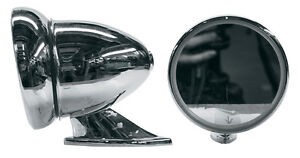 Gt Style Side Mirror Each Chrome Ford Chevy Dodge Plymouth Mustang Camaro Buick
