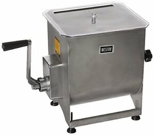 Weston Stainless Steel Meat Mixer 44 pound Capacity 36 2001 w Removable Mixing