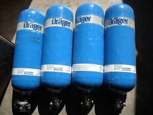 Drager 60 Minute 88 Cubic Feet 4500 Psi Carbon Tank Cylinder Manufactured 01 07
