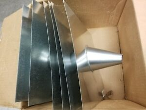lot Of 6 Master Flow 1 In Roof Flashing With Tapered Stack