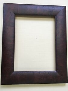Wide Solid Wood Elegant Rustic Mahogany 12x16 Picture Or Mirror Frame
