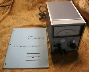 Hp Vintage Hewlett Packard 403b Decibel Ac Voltmeter With Manual And Leads