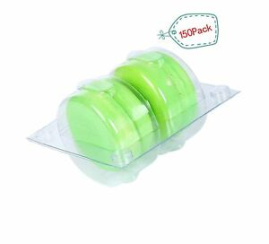 Plastic Clear Macaron Insert With Clip Closure Holds 2 Macarons case Of 150