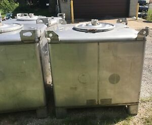 350 Gallon Transtore 304 Stainless Steel Stackable Totes Tanks