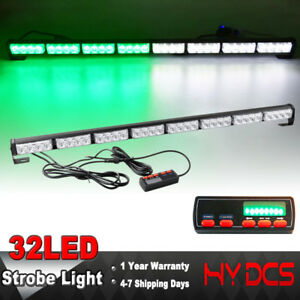 35 32 Led Light Bar Strobe Flash Traffic Adviser Directional Arrow Green White