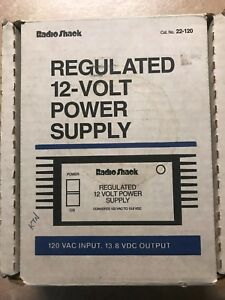 Brand New Radio Shack 12 Volt Regulated Power Supply 22 120 13 8 Vdc Output