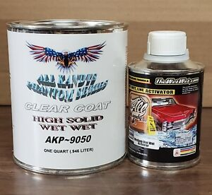 Wet Wet All Kandys High Solid Clear Coat 1 Quart Kit With 1 2 Pint Activator