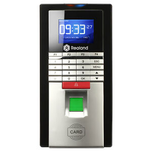 Realand Mf131 Door Entrytime Attendance System Fingerprint Card password
