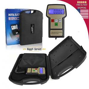 Digital Electronic Refrigerant Charging Scale Meters 220 Lbs With Case A c Hvac