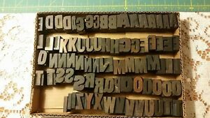 78 1 Unusual Vintage Large Letterpress Wood Printing Blocks Pcs Wooden Letters