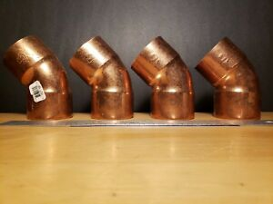 2 Copper 45 Degree 45 Elbows Muller Made In Usa Brand New 4pc Lot