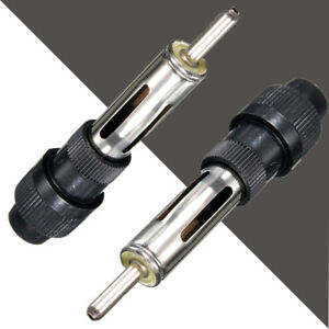 1x Car Radio Audio Aerial Antenna Male Plug Adapter 60mm Handle Screw Connector