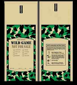 Poly Meat Bags Wild Game 1 Lb Case Of 1000 Camo Chub Freezer Stuffing