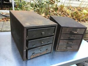 Union Chest Vtg Steelmaster Metal Cabinet Industrial Parts Shop Lot Jewelry