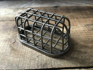 Antique Dazey Metal Frog Industrial Steampunk Decor Caged No 12 Early