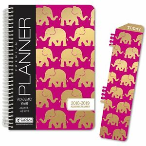 Hardcover Academic Year Planner 2018 2019 5 5 x8 Daily Planner weekly Plan