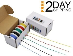 30 Awg Silicone Electric Wire 30 Gauge Cooper Hook 300v Diy Box 33ft Each