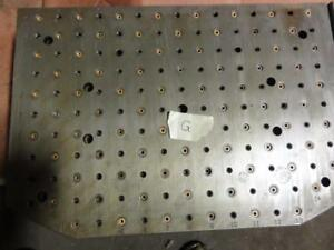 2 precision Steel Sub Plate Cnc Machine 17 3 4 X 25 1 2 X 1 1 2 Thick Fixture