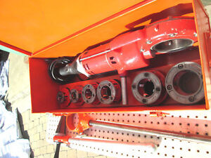Reed 700 Pipe Threader W Vg Ridgid Npsm 12r Heads And Dies Set Exc Tool