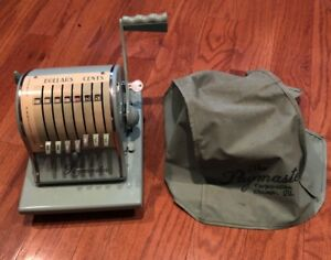 Paymaster Check Writer Embosser S 1000 W Key Vintage Excellent Condition Usa