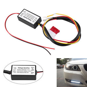 1x High Quality Car Led Daytime Running Light Controller Module Drl Relay Kits