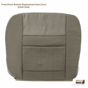 Fits 2009 2010 Dodge Ram 2500 3500 4500 Driver Bottom Cloth Seat Cover Khaki Tan
