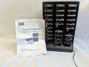Hme Guest Call Iqchar 30 bay Pager Charging Station W 30 Pagers ac Adapter