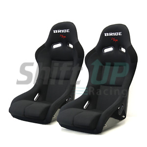 Bride Vios Black Cloth Frp Racing Seat Honda Miata Pair Gias Zeta Cuga Zieg