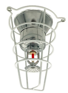 4 Pack White Fire Sprinkler Head Guard Cage For 1 2 3 4 Head 6 Deep