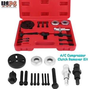 A C Compressor Clutch Remover Kit Puller Installer Auto Air Conditioning Tool Us