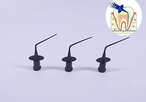 Disposable Dental Endo Irrigation Syringe Tips Needle Injection Plastic Black