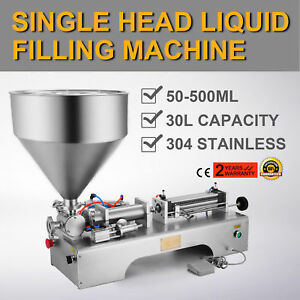 50 500ml Semi automatic Liquid Paste Filling Machine Cream Shampoo Hopper Great
